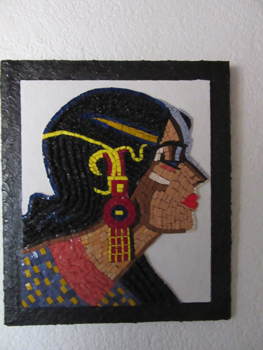 Tableau en mosaïque sur commande : Fiorella de Lima
